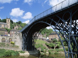 Ironbridge Gorge, Worlds' First Iron Structure (1779) by Designer Abraham Darby Photographic Print
