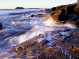 Sunlight Hits the Waves, Schoodic Peninsula, Maine, USA Photographic Print by Jerry & Marcy Monkman