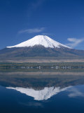 Mount Fuji and Lake Yamanaka, Honshu, Japan Photographic Print