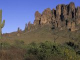 Superstition Mountains, Lost Dutchman State Park, Arizona, USA Photographic Print by Kristin Mosher