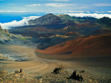 Cinder Cone Crater at Haleakala's Summit, Maui, Hawaii, USA Photographic Print by Adam Jones