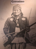 Poster of Geronimo Indian Chief, America's Gunfight Capital, Tombstone, Arizona, USA Photographie par Walter Bibikow