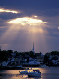 The North Church Rises Above Portsmouth, Piscataqua River, New Hampshire, USA Photographic Print by Jerry & Marcy Monkman