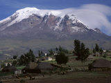 Snowcapped Mountains in Ecuador Photographic Print