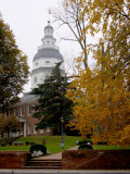 State House 1772-1779, and US Capitol from 1783 to 1784, Maryland, USA Photographic Print by Scott T. Smith