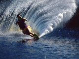 Waterskier with Water Spray Photographic Print