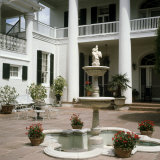Plantation Home Patio, Louisiana, USA Photographic Print