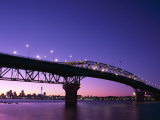 Auckland Harbour Bridge and Hauraki Gulf, Auckland, North Island, New Zealand Photographic Print