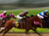 Thoroughbred Horses Racing at Keeneland Race Track, Lexington, Kentucky, USA Photographic Print by Adam Jones