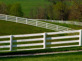Fences Around Pastures, Shaker Village of Plesant Hill, Kentucky, USA Photographic Print by Adam Jones