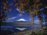 Lake Yamanaka, Mount Fuji Photographic Print