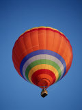 Colorful Hot Air Balloon in Sky, Albuquerque, New Mexico, USA Fotografie-Druck