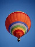 Colorful Hot Air Balloon in Sky, Albuquerque, New Mexico, USA Photographic Print