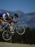 Airborne Mountain Bikes Photographic Print