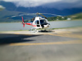 Helicopter Lifting Off, Juneau, Alaska, USA Photographic Print by Terry Eggers