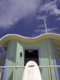 Art Deco Lifeguard Station, South Beach, Miami, Florida, USA Papier Photo par Robin Hill