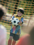 Goalie Holding a Soccer Ball Photographic Print