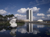 Congress Building, Brasilia, Brazil, Photographic Print