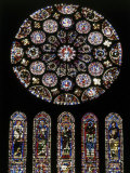Rose Window of South Facade Chartres Cathedral Chartres France Photographic Print