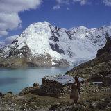 Santa Ana Lake, Raura Range, Peru Photographic Print