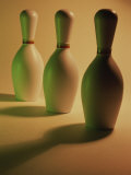 Three Bowling Pins in a Line Photographic Print