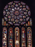 Rose Window of North Facade Chartres Cathedral Chartres France Photographic Print