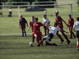 Girls' Soccer Game Photographic Print
