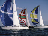 Three Sailboats Photographic Print