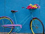 A Bicycle Against a Wall Photographic Print