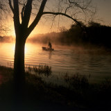 Fisherman at Dawn Photographic Print