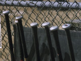 Baseball Bats and Chain Link Fence Photographic Print
