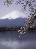 Lake Kawaguchi, Mount Fuji, Japan Fotografisk tryk
