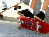 Close-up Image of Feet on Skateboards Fotografisk trykk