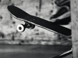 Close-up Monochromatic Image of a Skateboard Photographic Print