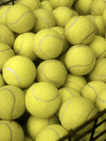 Basket of Tennis Balls Impresso fotogrfica