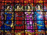 Close-up of Stained Glass Window, Mission Dolores, San Francisco, California, USA Photographic Print