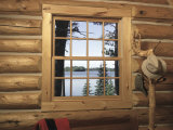 View from Window in Log Cabin Photographic Print