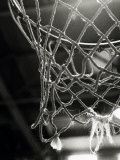 Primer plano de una red de baloncesto Lámina fotográfica