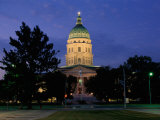 State Capitol, Topeka, USA Photographic Print