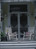 Two Rocking Chairs on the Porch of a House Photographic Print