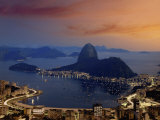 Sugar Loaf Mountain, Guanabara Bay, Rio de Janeiro, Brazil Photographic Print
