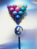 Close-up of Pool Balls on a Pool Table Photographic Print