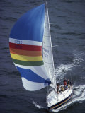 Sailboat with A Colorful Sail Photographic Print