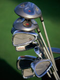 Close-up Image of Golf Clubs Photographic Print