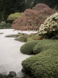 Flat Garden, Japanese Gardens, Portland, Oregon, USA Photographic Print