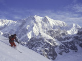 Side Profile of a Man Skiing Photographic Print