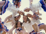Portrait of a Group of Cheerleaders Photographic Print