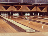 Highly Polished Bowling Lanes Photographic Print