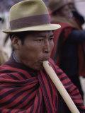 Flute Player, Bolivia Photographic Print