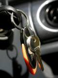 Close-up of Key in a Car Ignition Photographic Print
